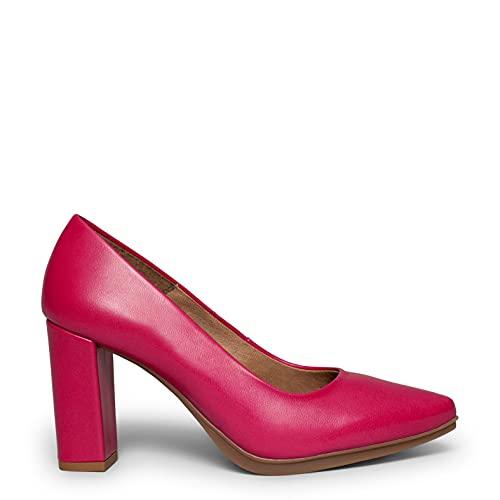Urban Salon Zapatos FUCSIAS de Piel y tacón Alto