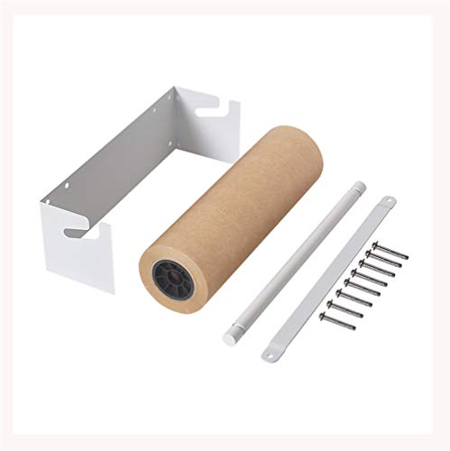 Ideas for Office Concepts - Studio Drawing Notes - Coffee Shop Wall Mounted Flipchart - 120G Russia Kraft Paper Roll and White Holder Dispenser Set - Alternative Blackboards,L67cm/26In