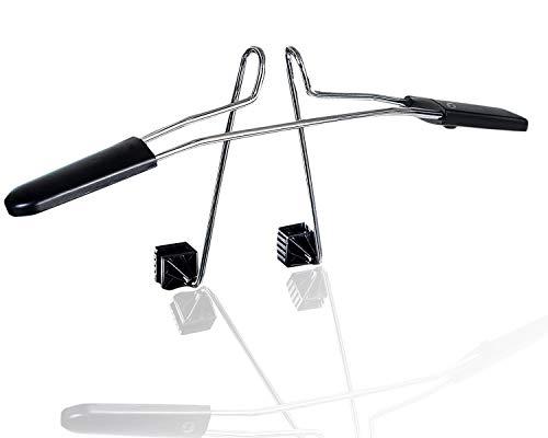 Zone Tech Chrome Headrest Car Hanger – Premium Quality Clothes Holder Travel Vehicle Jacket Suit Coat Hanger with Headrest Restraint Rods