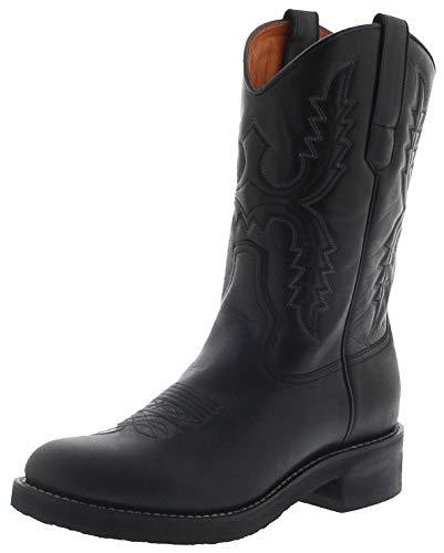 Sendra Boots Herren Cowboystiefel 11615 Negro Westernreitstiefel Lederstiefel Schwarz 48 EU