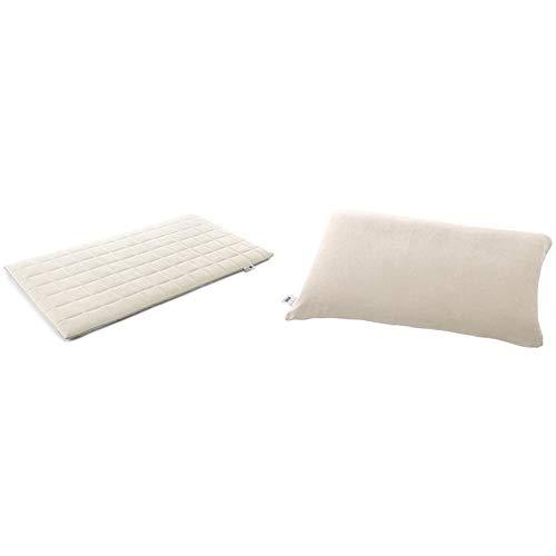 エアウィーヴ マットレスパッド ホワイト シングル 1-82011-1 & ピローケース ソフトタッチ ベージュ K-P0151-BE-1【セット買い】