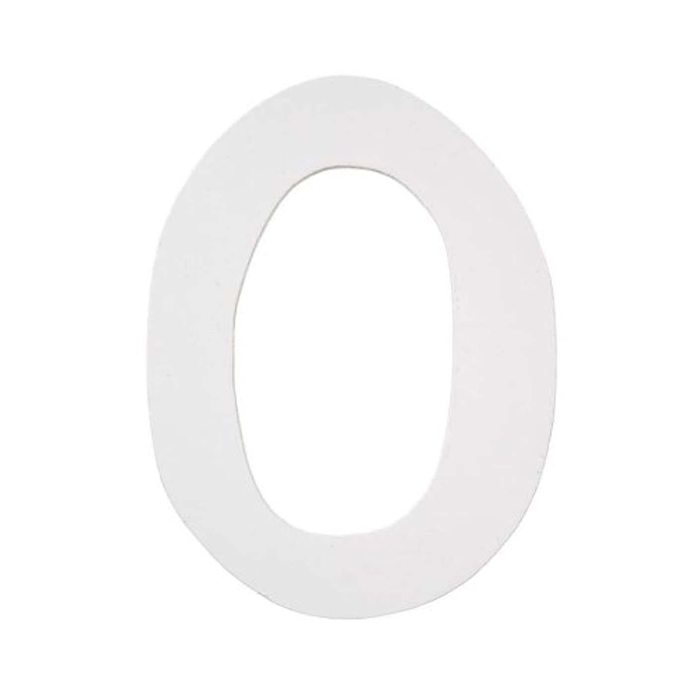 Darice 9185-O Wood Letters, Dot to Dot O, White, 5-Inch