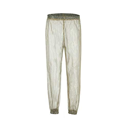 BESPORTBLE Pantalones Repelentes Pantalones Anti Mosquitos Pantalones de Senderismo Portátiles Pantalones de Camping para La Aventura en La Jungla Actividad Al Aire Libre Verde (L/XL)