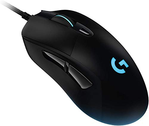 Logitech G403 Hero Wired Gaming Mouse, Hero 16K Sensor, 16000 DPI, RGB Backlit Keys, Adjustable Weights, 6 Programmable Buttons, On-Board Memory, Braided Cable, PC/Mac/Laptop - Black