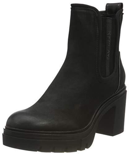 REPLAY Damen MACARENA Chelsea-Stiefel, Schwarz 003 Black, 40 EU