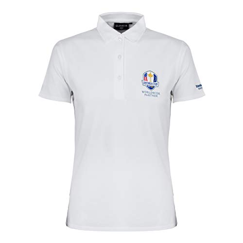 Ryder Cup Glenmuir Womens White Polo T Shirt Classic Fit X Large
