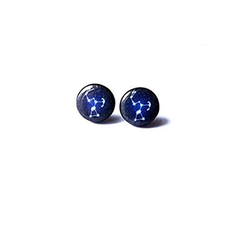 Orion Sternbild Ohrringe - Orion Ohrringe - Galaxy Ohrringe - Orion Ohrstecker - Jäger - Weltraum Thema, ein schönes Geschenk.