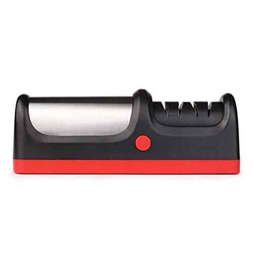 YFGQBCP Afilador de cuchillos eléctrico portátil, afilador de cuchillos, completamente automática de 4-Paso de Hogares Sacapuntas rápida for una variedad de herramientas