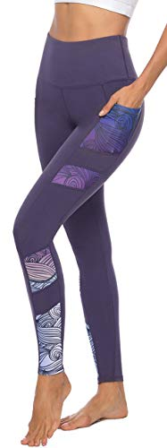 Persit Sporthose Damen, Yoga Leggings Laufhose Yogahose Sport Leggins Tights für Damen,Violett,38-40 (Herstellergröße M)