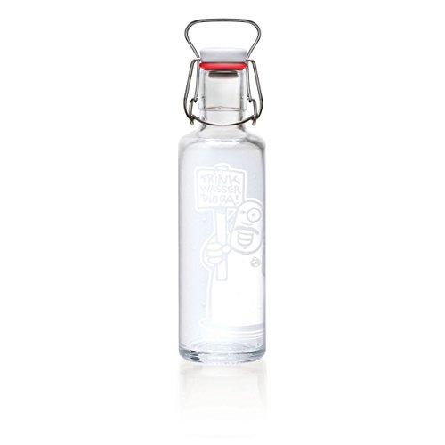 soulbottle 0,6l Trinkflasche aus Glas • verschiedene Designs, Made in Germany, vegan, plastikfrei, Glastrinkflasche, Glasflasche (Trink Wasser Digga!)
