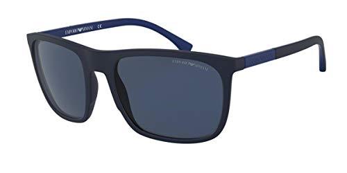 Emporio Armani 0EA4133 Occhiali da Sole, Nero (Blue Rubber), 59 Uomo