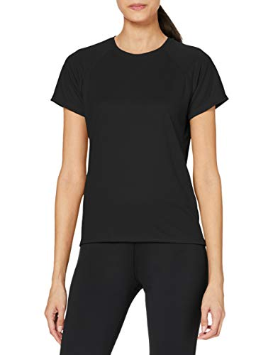 Stedman Apparel Active 140 Raglan/ST8500, T-Shirt Sportiva Donna, Nero (Black Opal), S