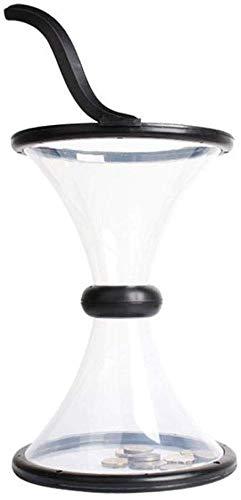 Kinder-Piggy Bank-munten-gravity rotatie spar jars volwassenen decomprimering transparant trechter sluitvak hoofddecoratie (kleur: clear) geen brand helder