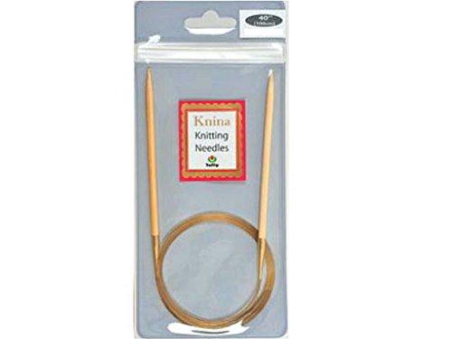 輪針 『Knina Swivel Knitting Needles(ニーナ スイベル ニッティング ニードルズ) 竹輪針 100cm 4号』 Tulip チューリップ