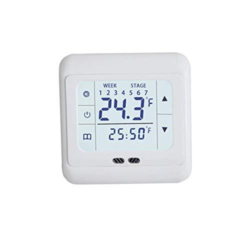 NewIncorrupt Termostato de calefacción de pantalla táctil termorregulador para controlador de temperatura del sistema de calefacción eléctrica de suelo cálido con bloqueo para niños