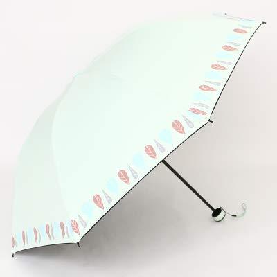 NJSDDB paraplu Creatieve verhoging paraplu gezicht paraplu vrouwelijke dual-gebruik vier voudige zwarte plastic zonnescherm parasol anti-UV paraplu vrouwen, H