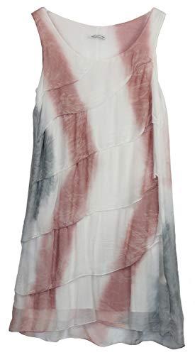 BZNA Ibiza Batik Empire Stupenklok zomerjurk roze wit grijs 100% zijden jurk Bozana zomer herfst zijden jurk dames jurk jurk elegant