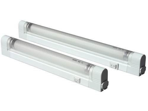 Knightsbridge IP20/T5G535W Slimline Linkable plafoniera fluorescente con tubo, interruttore e diffusore 3500K