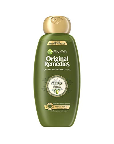 Garnier Original Remedies - Champú Nutrición Extrema Oliva Mítica para Pelo Reseco y Sensibilizado - 600 ml