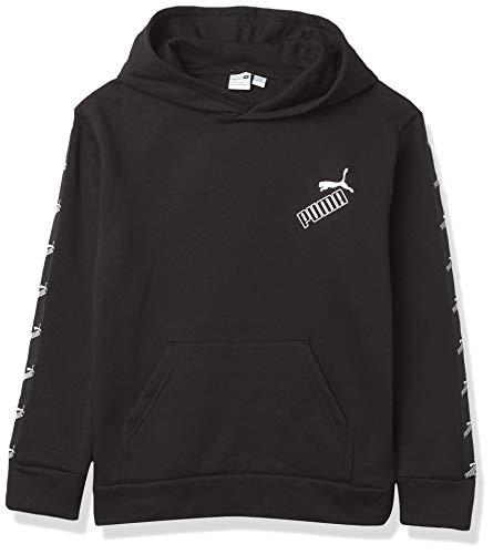 PUMA Jungen Pullover Hoodie Kapuzenpullover, schwarz, XL (7)