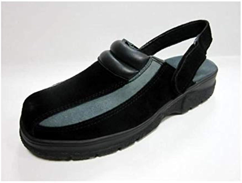 HTC shoes Clack Nubuck avec maintien arriere - black et grey