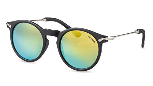 Filtral Runde Damen Sonnenbrille/Verspiegelte, Retro-Sonnenbrille aus biobasiertem Kunststoff F3067821