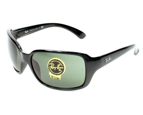Ray-Ban RB4068 Black/Crystal Green G15 Sunglasses (RB4068-601-60-17-130)