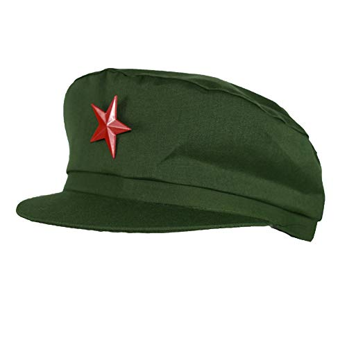 Communist Party Red Army Uniform Hat Chinese Chairman Mao Zedong Costumes Theater Accessory Cap