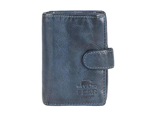 Bear Design kaarthouder minibeurs portemonnee klein blauw