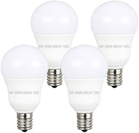 Ganiude G14 Globe LED Light Bulb E17 Intermediate Base 6W 60 Watt Replacement 3000K Warm White product image