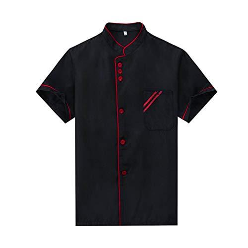 YARNOW Chaqueta de Abrigo Chef Uniforme de Chef de Manga Corta Camisa...
