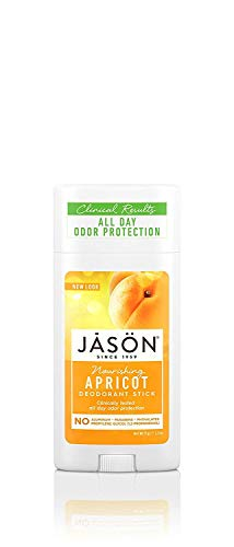 Jason Aluminum Free Deodorant Stick, Nourishing Apricot, 2.5 Oz