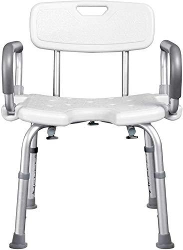 Taburete de Ducha Sillas de ducha para personas mayores, silla de ducha para personas mayores de trabajo pesado con brazos extraíbles y espalda, asistencia de altura ajustable, personas mayores y tabu