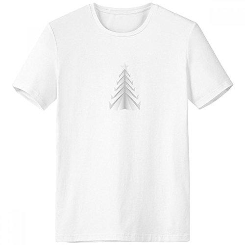 DIYthinker Blanco Resumen árbol de Navidad de Origami de Cuello Redondo Camiseta Blanca de Manga Corta Comfort Deportes Camisetas de Regalos - Multi - Grande