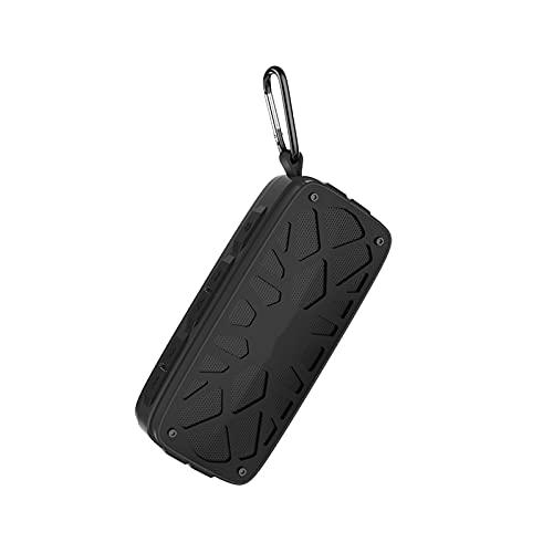GUOOO Altavoz Bluetooth, Efecto estéreo fácil de Transportar, Bluetooth 4.2, Adecuado para el hogar, Viajes, al Aire Libre, etc. 19.0 × 5.0 × 8.0cm Black