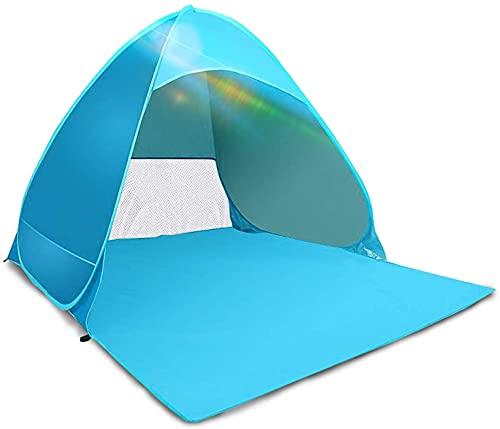 Kratax Tenda da Spiaggia Pop UP Parasole Spiaggia Protezione UV per 3-4 Persone Apertura Istantanea...
