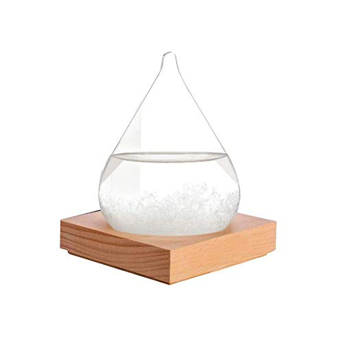 fervory Storm Glass Weather Predictor Forma De Cono De Vidrio De Tormenta Pronóstico del Tiempo Estación Meteorológica Clima De Moda Barómetro De Botella De Vidrio De Tormenta