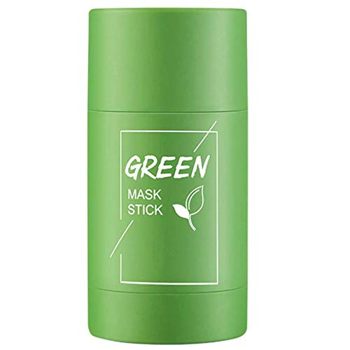 Green Tea Mask Stick, Deep Cleansing Smearing Clay facial masks, Removing Blackhead face mask Balancing Oil And Water, Moisturizing Nourishing Skin, Suitable for All Skin (Green Tea)