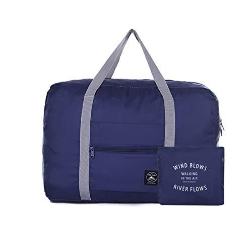 トラベルバッグ 折りたたみキャリーオンバッグ ボストンバッグ 軽量 防水 キャリーオンバッグ 大容量 旅行 出張 整理用 スーツケース 18.5cm*14cm*33cm 2個 (ブルー)