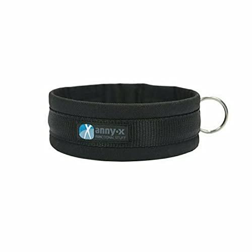 anny-x Collar con pasador, talla 8/57-63 cm, color negro/negro