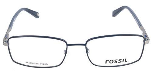 Fossil Brillengestelle FOS 6062 Rechteckig Brillengestelle 55, Blau
