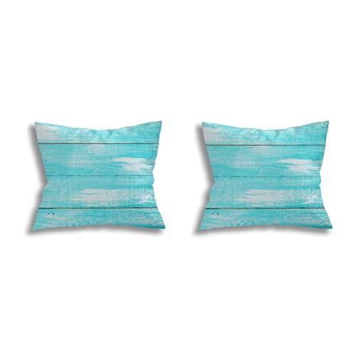 Throw Pillow Covers decoración de la habitación (Juego de 2 Piezas), Wooden Texture Top View Flat Mockup for Design,Juego de Funda de cojín para Fundas de Almohada de Dormitorio de sofá18*18inch