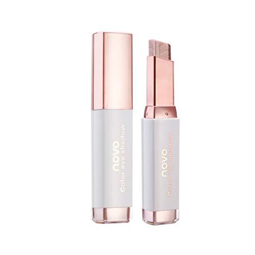 FRCOLOR Zweifarbige Lidschattenstift Farbverlauf Lidschattenstift Make-Up-Stick Wasserdicht Lidschatten Rotbraun