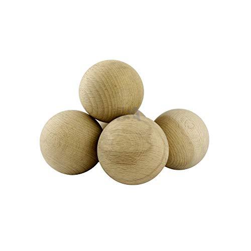 For Forest 10 Sfere di Legno 50mm Palline Legno 50 mm Colore Naturale Grezzo Palle Perline Non verniciate Senza Foro No Buco