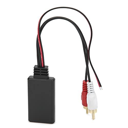Adattatore AUX Bluetooth per Auto, Adattatore RCA per Radio Bluetooth 5.0 Adattatore per Cavo Audio Wireless per Auto Portatile di Ricambio Connettore Audio per Auto