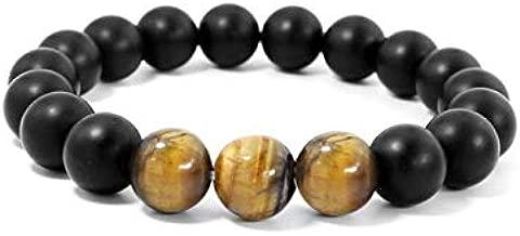 FOKLC Bracelet Tiger Eye&Hematite&Black Obsidian Stone Bead couple Bracelet Vintage Charm Round Chain Beads Bracelets Jewelry For men