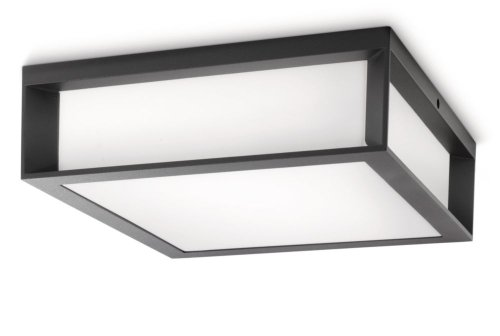Philips Lighting Aplique / plafón exterior, 14 W, IP44, color antracita