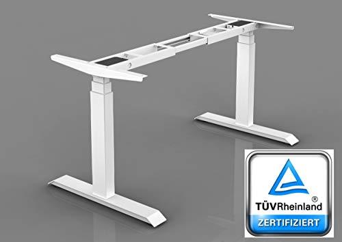 MEDICALGREEN® Hochwertiger elektrisch höhenverstellbarer Schreibtisch, sehr stabiles einstellbares Tischgestell, hochwertiger Bürotisch höhenverstellbar für maximalen Komfort