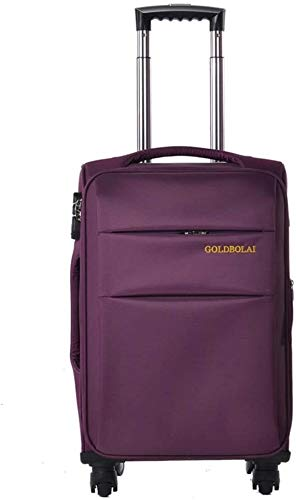 GQY Trolley suitcase - luggage travel luggage with four ultra-light fabric suitcase (Color : Violet, Size : 42 * 26 * 69cm(26))