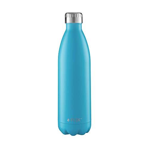FLSK das Original Trinkflasche Thermoflasche Isolierflasche hält 18h heiß - 24h kalt (Farbe Caribbean, Grösse 750ml)